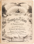 Political:Small Paper (pre-1896), James Buchanan: 1860 Secession Crisis Pro-Union Sheet Music....