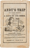 Political:Miscellaneous Political, Anti-Andrew Johnson: Charming 1866-Dated Satirical Paperback....