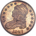 Proof Bust Half Dollars, 1827 50C PR66 PCGS Secure. CAC. O-121, R.7 as a proof....