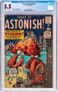 Silver Age (1956-1969):Mystery, Tales to Astonish #10 (Marvel, 1960) CGC FN- 5.5 Cream to off-whitepages....