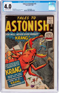 Silver Age (1956-1969):Horror, Tales to Astonish #14 (Marvel, 1960) CGC VG 4.0 Off-white to whitepages....