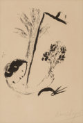 Fine Art - Work on Paper:Print, Marc Chagall (1887-1985). Bouquet a la main, 1957.Lithograph on paper. 15 x 11 inches (38.1 x 27.9 cm) (sheet). Ed.23/...