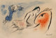 Marc Chagall (French/Russian, 1887-1985) Carte de Voeux pour Aime Maeght, Paris, 1960 Lithograph in colors on Velin Ar...