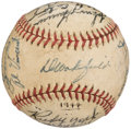 Autographs:Baseballs, 1944 Detroit Tigers Team Signed Baseball (25 Signatures).. ...