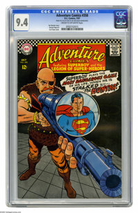 Adventure Comics #358 (DC, 1967) CGC NM 9.4 Cream to off-white pages. Curt Swan cover. George Papp art. Overstreet 2005...