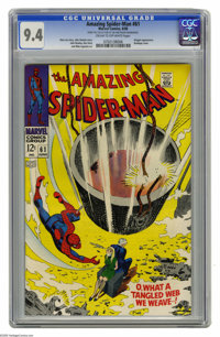 The Amazing Spider-Man #61 (Marvel, 1968) CGC NM 9.4 Cream to off-white pages. Kingpin appearance. John Romita Sr. cover...