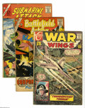 Silver Age (1956-1969):Miscellaneous, Charlton Silver Age War Group (Charlton, 1961-75) Condition:Average GD+. This group consists of 46 Charlton (with a couple ...(46 Comic Books)