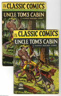 Golden Age (1938-1955):Classics Illustrated, Classic Comics #15 Uncle Tom's Cabin Multiple Copies (Gilberton,1943). This lot includes two copies of this great issue: a ... (2Comic Books)