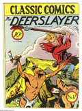 Golden Age (1938-1955):Classics Illustrated, Classic Comics #17 The Deerslayer First Edition (Gilberton, 1944) Condition: VG+. Overstreet 2005 VG 4.0 value = $120....