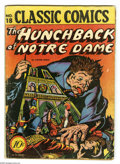 Golden Age (1938-1955):Classics Illustrated, Classic Comics #18 The Hunchback of Notre Dame First Edition 1A(Gilberton, 1944) Condition: GD+. Original Gilberton edition...