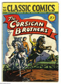 Golden Age (1938-1955):Classics Illustrated, Classic Comics #20 The Corsican Brothers First Edition 1A(Gilberton, 1944) Condition: VG. Original Gilberton edition.Overs...