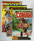 Bronze Age (1970-1979):Miscellaneous, Conan the Barbarian Group (Marvel, 1974-82) Condition: VF/NM.Twenty nine-issue lot includes #37 (last 20-cent issue), 41, 4...(29 Comic Books)