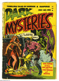 Golden Age (1938-1955):Horror, Dark Mysteries #1 (Master Publications, 1951). Cover detached andsplit. Wally Wood cover and art. Overstreet 2005 GD 2.0 va...