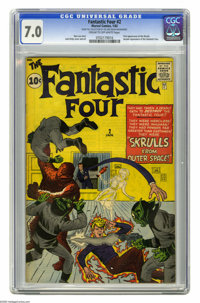 Fantastic Four #2 (Marvel, 1962) CGC FN/VF 7.0 Cream to off-white pages. Early in the run of this popular title, we are...
