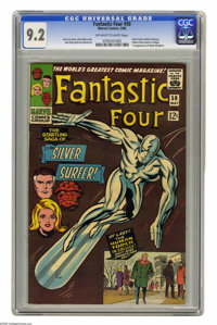 Fantastic Four #50 (Marvel, 1966) CGC NM- 9.2 Off-white to white pages. The Silver Surfer battles Galactus in the third...