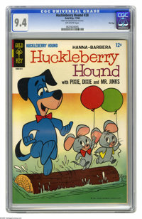Huckleberry Hound #28 File Copy (Gold Key, 1966) CGC NM 9.4 Off-white pages. Overstreet 2005 NM- 9.2 value = $48. CGC ce...