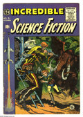 Golden Age (1938-1955):Science Fiction, Incredible Science Fiction #31 (EC, 1955) Condition: VG-. JackDavis cover. Interior art by Wally Wood, Al Williamson, Berna...