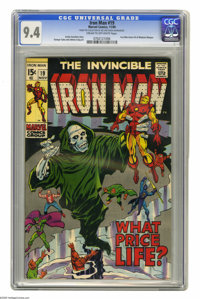 Iron Man #19 (Marvel, 1969) CGC NM 9.4 Cream to off-white pages. Iron Man learns identity of Madame Masque. George Tuska...