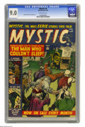 Golden Age (1938-1955):Horror, Mystic #9 (Atlas, 1952) CGC VF/NM 9.0 Off-white pages. Bill Everettand Tony DiPreta art. This is the only copy of this issu...