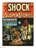 "Golden Age (1938-1955):Horror, Shock SuspenStories #6 (EC, 1952) Condition: VG/FN. Overstreetdescribes this Wally Wood cover as a ""classic hooded vigilant..."