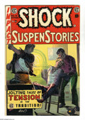 "Golden Age (1938-1955):Horror, Shock SuspenStories #16 (EC, 1954) Condition: FN. ""Red Dupe""editorial on inside front cover. Rape story. George Evans cover..."