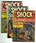 Golden Age (1938-1955):Horror, Shock SuspenStories Group (EC, 1952-55). Three-issue lot includes#4 (used in Seduction of the Innocent; GD), 17 (VG), a... (3 ComicBooks)