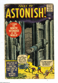 Tales to Astonish #1 (Marvel, 1959) Condition: GD-. Monster cover by Jack Kirby. Interior art by Kirby, Steve Ditko, Pau...