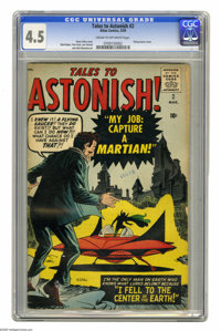 Tales to Astonish #2 (Marvel, 1959) CGC VG+ 4.5 Cream to off-white pages. Steve Ditko flying saucer cover. Matt Baker, D...