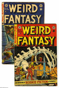 Golden Age (1938-1955):Science Fiction, Weird Fantasy #19 and 22 Group (EC, 1953). Issue #19 grades Fair,#22 is Fair/Good (no staples). Both have cover art by Joe ... (2Comic Books)
