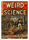 Golden Age (1938-1955):Science Fiction, Weird Science #13 (EC, 1952) Condition: VG. Wally Wood cover. Wood,Jack Kamen, and Joe Orlando art. Covers browning. Overst...