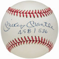 Autographs:Baseballs, 1990 Mickey Mantle Single Signed Limited Edition Baseball.. ...