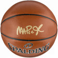 Basketball Collectibles:Balls, Circa 2010's Magic Johnson Signed Basketball....