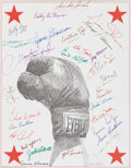 Autographs:Photos, Multi-Signed Boxing Greats Lithograph. . ...