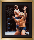 "Autographs:Photos, 2000's ""Rowdy"" Roddy Piper & Greg ""The Hammer"" Valentine SignedOversized Photograph...."