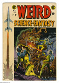 "Golden Age (1938-1955):Science Fiction, Weird Science-Fantasy #27 (EC, 1955) Condition: VG+. Includes ""I,Robot"" story adapted from the original Adam Link tale by E..."