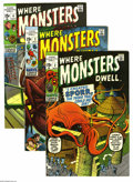 Silver Age (1956-1969):Horror, Where Monsters Dwell Group (Marvel, 1970-75) Condition: Average VF.Fourteen-issue group lot includes #2, 3, 4, 7, 8, 25, 28... (14Comic Books)