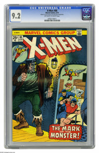 X-Men #88 (Marvel, 1974) CGC NM- 9.2 Off-white to white pages. George Tuska cover. Don Heck art. Reprints #40. Also incl...
