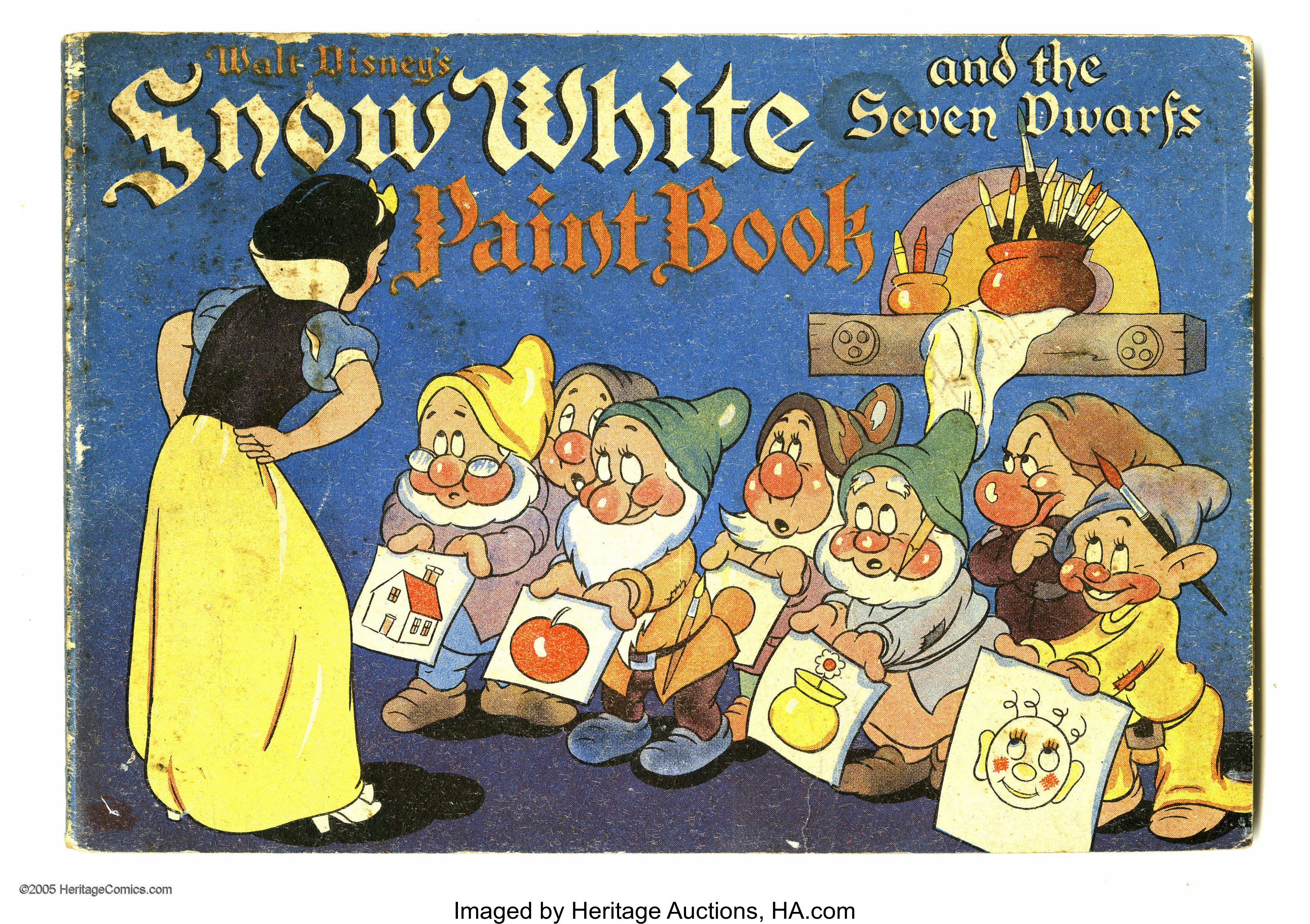 Snow White And The Seven Dwarfs Paint Book Whitman 1938 Lot 16665 Heritage Auctions