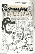 Original Comic Art:Covers, Sal Gentile (attributed) - Career Girl Romances #65 Cover OriginalArt (Charlton, 1971). The pop art look into this artist's... (2items)