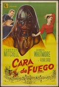 "Movie Posters:Drama, Face of Fire (Allied Artists, 1959). Argentinean Poster (29"" X 43""). Drama...."