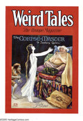 Original Comic Art:Miscellaneous, C. C. Senf - Weird Tales Vol. 14 #1 Cover Color Printer's ProofOriginal Art (Popular Fiction Publishing Co., 1929). Artist ... (2items)