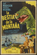 "Movie Posters:Science Fiction, The Beast of Hollow Mountain (United Artists, 1956). Argentinean Poster (29"" X 43""). Science Fiction...."