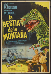 "The Beast of Hollow Mountain (United Artists, 1956). Argentinean Poster (29"" X 43""). Science Fiction"