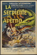 "Movie Posters:Fantasy, Viking Women and the Sea Serpent (American International, 1957).Argentinean Poster (29"" X 43""). Fantasy...."