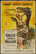 "Movie Posters:Adventure, Goliath and the Dragon (American International, 1960). ArgentineanPoster (29"" X 43""). Adventure...."