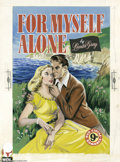 Original Comic Art:Covers, WDL Books Artist - For Myself Alone Cover Original Art (WDL Books,circa 1960). Two lovers find a quiet moment for romance i...