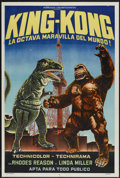 "Movie Posters:Science Fiction, King Kong Escapes (Toho, R-1976). Argentinean Poster (29"" X 43"").Science Fiction...."