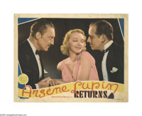 "Arsene Lupin Returns (MGM, 1938). Lobby Cards (2) (11"" X 14""). Offered here are two original lobby cards for t..."