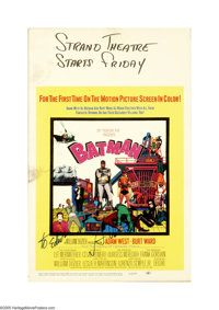 """Batman (20th Century Fox, 1966). Window Card (14"""" X 22""""). Offered here is an original poster for this action c..."""