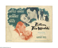 "Movie Posters:Mystery, Between Two Worlds (Warner Brothers, 1948). Title Lobby Card (11"" X14""). Offered here is an original lobby card for this fa..."
